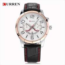 Curren 8140 Men's Fashion Date Quartz Genuine Leather Watch