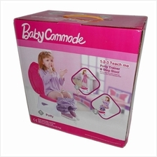 Baby Commode Potty Trainer & Step Stool Pink