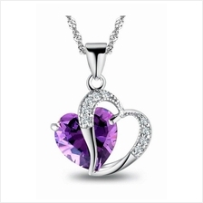 YOUNIQ Lavender Love 925 Sterling Silver Necklace with Cubic Zirconia
