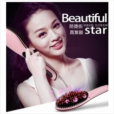 Beautiful Star comb hair straightener LCD Straightening Hair Comb Brus
