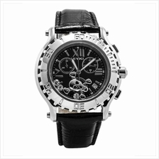 Eyki SS0081G Moving Skull Men's Watch Black & Silver