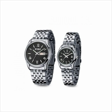 EYKI E-Times W8470 Stainless Steel Watch 1 Pair Silver Black