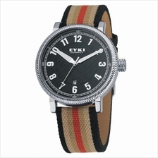 EYKI Overfly W8455 Black Endurance Cloth Leather Watch