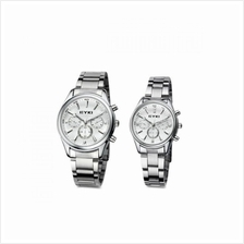EYKI EET8581 Stainless Steel Couple Watch 1 Pair Silver White