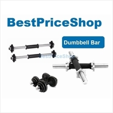 Bumper Chrome Dumbbell Bar with Rubber Handle Barbell Gym Fitness