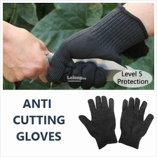 (1 Pair) Safety Anti Cut Gloves Work Defence Resistant Protection