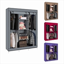 YG8 King Size Multifunctional 4 Hanging Cloths Wardrobe