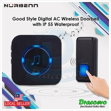 Nurbenn Digital AC Wireless Doorbell With IP 55 Waterproof Melody Songs