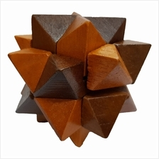 3D Wooden Puzzle - Brain Teaser Game or Relieve Pressure Game (Triangle)