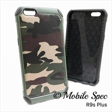 Oppo R9s Plus A59 F1s Camouflage Army Case Cover