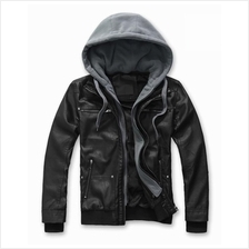 MS0047D Korean Men's Slim PU Leather Motorcycle Jacket