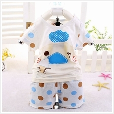 00408 SHORT SLEEVES SMALL DUCK BABY KIDS CLOTHING SET