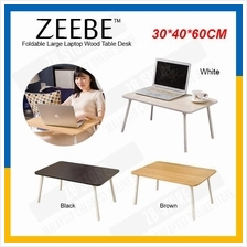 ZEEBE Foldable Laptop Bed Table Notebook Large Bed Desk 40x60cm
