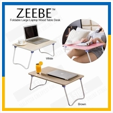 ZEEBE Foldable Laptop Wood Table Notebook Large Bed Desk 40x60cm