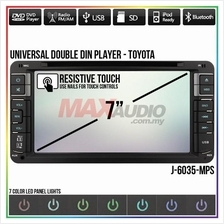 "Universal TOYOTA SKY AUDIO 7"" Full HD Double Din DVD USB SD TV Player"