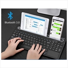 Multi-devices Bluetooth 3.0 Rechargeable Wireless Touch Pad Keyboard