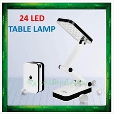 Rechargeable and Adjustable 24 LED Table Lamp Desk Foldable Light