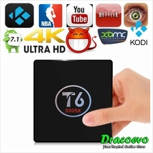 T6 Android 7.1 TV Box S905X Quad Core 2GB RAM 16GB ROM Miracast Airplay