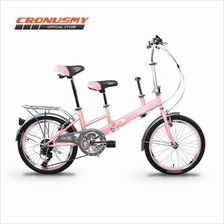 Garion G2035-BC 20' Tandem Folding Bike Bicycle with Shimano 7 Speed