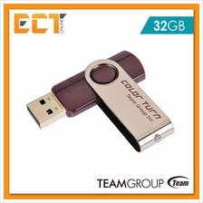 Team Group Team E902 32GB USB 2.0 Color Turn Flash Drive - Brown
