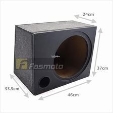 12 PORTED SUBWOOFER BOX ENCLOSURE WOOD PAINTED AND PVC WRAPPED