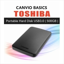 Toshiba CANVIO Basics Portable External Hard Disk USB3.0 500GB