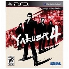Original Brand New Sony PS3 Yakuza 4 Blu-Ray R2