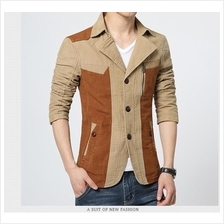 MS0058D Korean Slim Male Cotton Washed Coat Jacket