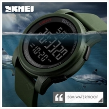 SKMEI 1257 Men Sport Watches Double Time Countdown Military Watch 50M