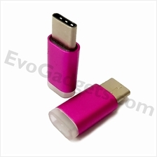 USB Type C to Micro USB Adapter - Purple