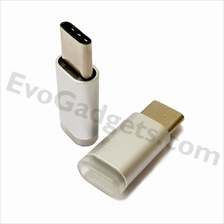 USB Type C to Micro USB Adapter - Silver