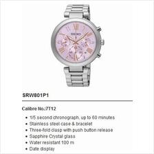 SEIKO . SRW801P1 . LUKIA . W . Chronograph . SSB . Quartz . Lilac