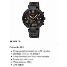 SEIKO . SRW787P1 . LUKIA . W . Chronograph . SSB . Quartz . Black