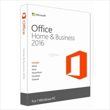 MICROSOFT OFFICE HOME & BUSINESS 2016 RETAIL