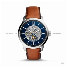 FOSSIL ME3154 Men's Townsman Automatic Skeleton Leather Strap Brown