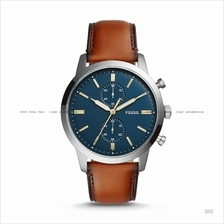 FOSSIL FS5279 Men's Townsman Chronograph Leather Strap Navy Brown