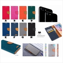 iPhone 6 6S Plus MERCURY CANVAS Jeans Fancy Diary Case Cover *FREE