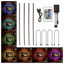 4x 50cm USB LED RGB Multi Color Strip Light TV Backlight Remote