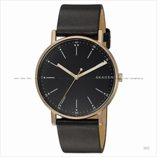 SKAGEN SKW6401 Men's Signatur 3-hand Interchange Leather Strap Black