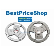 5cm Olympic MARCY Cast Iron Dumbbell Weight Barbell Plates 10 15 20kg