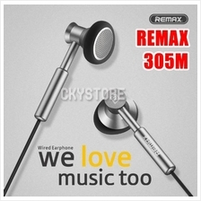ORI REMAX 305M 3.5mm Wired Control Metal Headphone Earphones with Mic