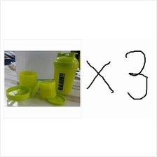 3 UNITS FitWhey Smart Multi Compartment Protein Shaker Blender (bekas