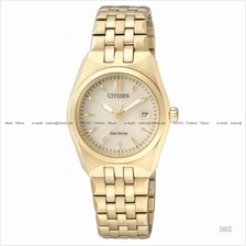 CITIZEN . EW2292-67P . Eco-Drive . W . Date . Pair . SSB . Gold