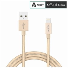 Aukey CB-D16 Apple MFi Ultra Durable Nylon Lightning Cable)