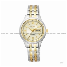 CITIZEN . PD7156-58P . Automatic . W . Day-Date . Pair . SSB Two-tone