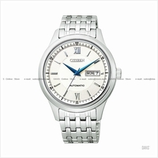 CITIZEN . NY4051-51A . Automatic . M . Day-Date . Pair . SSB . White