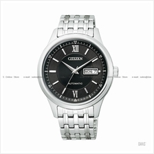 CITIZEN . NY4051-51E . Automatic . M . Day-Date . Pair . SSB . Black