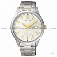 CITIZEN . NH7524-55A . Automatic . M . Day-Date . Pair . SSB Two-tone
