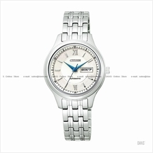 CITIZEN . PD7151-51A . Automatic . W . Day-Date . Pair . SSB . White