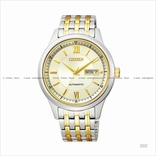 CITIZEN . NY4056-58P . Automatic . M . Day-Date . Pair . SSB Two-tone